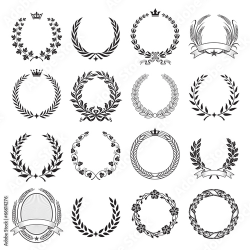 Fotografie, Obraz  Laurel Wreath round Ceremonial Frames.