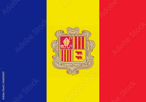 Photo High detailed flag of Andorra