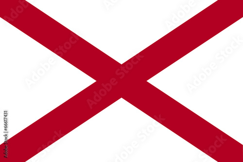 Photo High detailed vector flag of Alabama