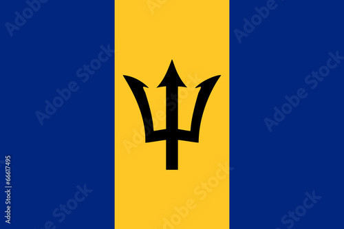 Photo High detailed vector flag of Barbados