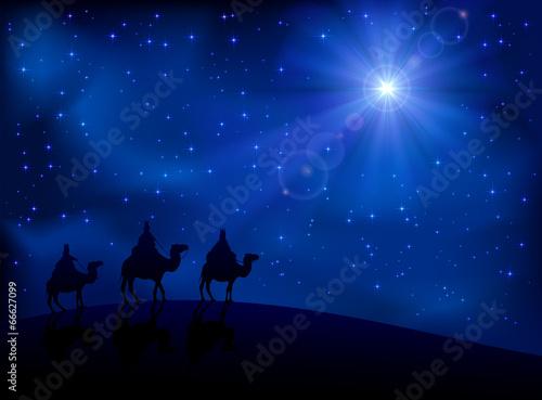 Three wise men and star Fototapeta