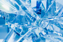 Abstract Blue Background Of Cr...