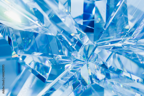 abstract blue background of crystal refractions Wallpaper Mural