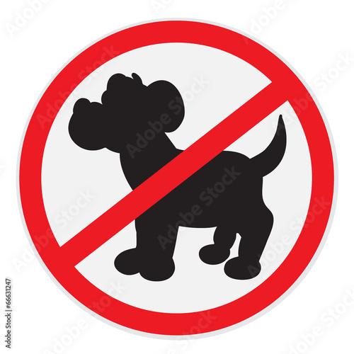 Fotografie, Obraz  No dogs sign