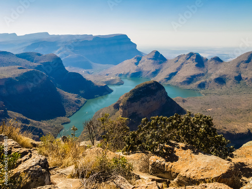 Montage in der Fensternische Südafrika Scenic view of the Blyde River Canyon, South Africa