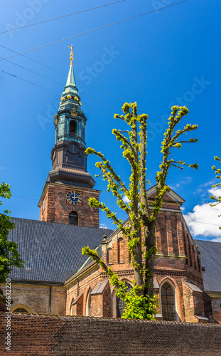 Tuinposter Barcelona St. Peter's Church in Copenhagen, Denmark