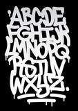 Fototapeta Młodzieżowe - Hand written graffiti font alphabet. Vector