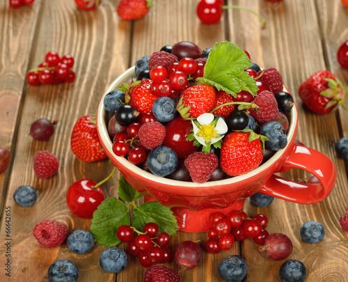 Poster Fruit Various berries