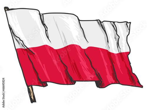 Obraz w ramie flag of Poland