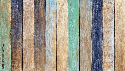 Fototapeta na wymiar Kolorowe drewniane deski