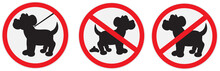 Set Of  Signs For Dogs