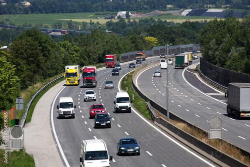 Cuadros en Lienzo Autos auf der Autobahn