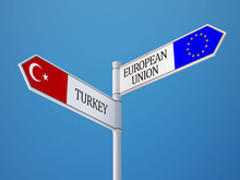 European Union Turkey  Sign Fl...