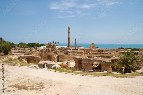 Staande foto Tunesië Термы. Карфаген