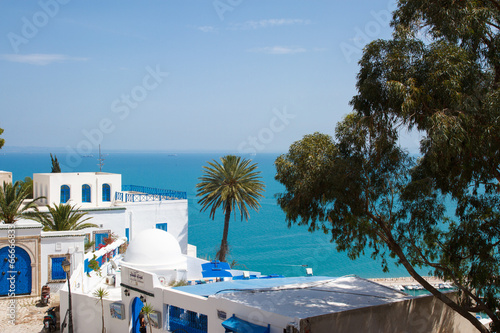 Deurstickers Tunesië Сиди бу Саид