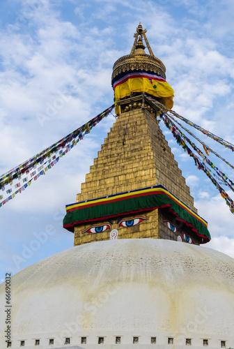 In de dag Nepal Boudhnath Stupa, Kathmandu, Nepal