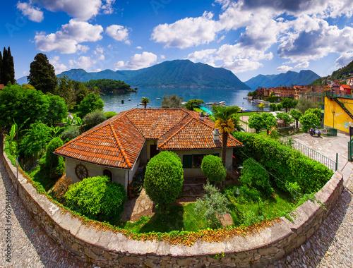 Photo View of the town Argegno, on Lake Como.