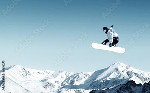 Fotografie, Obraz  Snowboarding