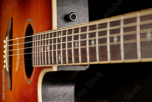 western guitar close up