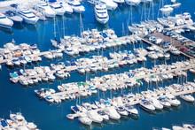 Marina In Monaco On Mediterranean Sea