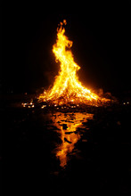 San Juan Bonfire At Night