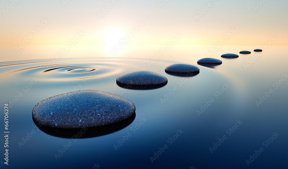 Fototapeta Steine im Wasser