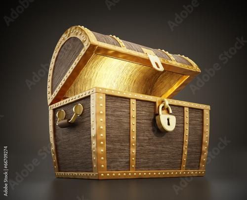 Fotografie, Obraz  Treasure chest full of treasures