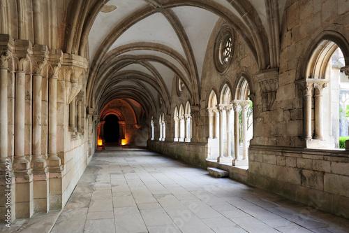 Leinwand Poster cloister of Monastery de Santa Maria, Alcobaca, Portugal