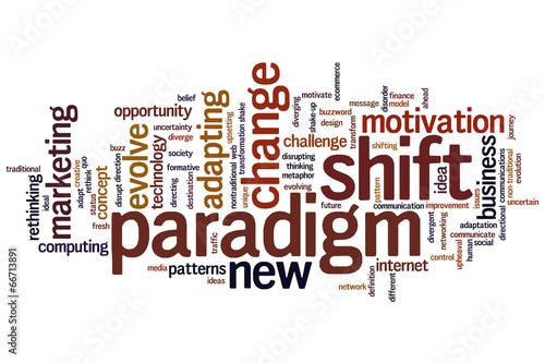Fotografie, Obraz  Paradigm shift word cloud