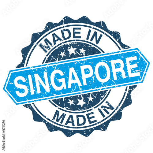 made in Singapore vintage stamp isolated on white background Wallpaper Mural