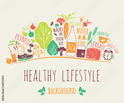healthy lifestyle background