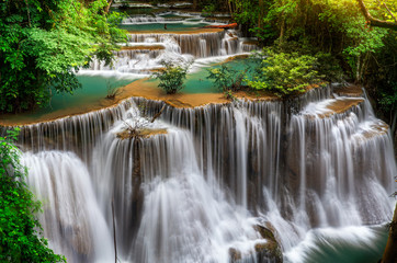FototapetaMain level of Huai Mae Kamin Waterfall