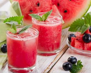 Panel Szklany Podświetlane Słodycze Watermelon smoothie