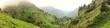 Panorama von Gebirge in den Dolomiten
