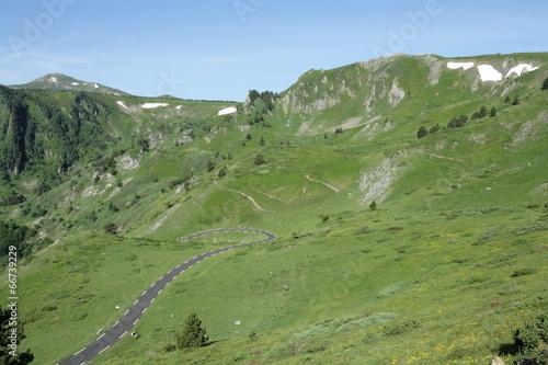 Fototapeta Route du col de Pailhères,Pyrénées ariégeoises obraz na płótnie