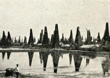 Oil Lake And Oil Wells In Balaxanı, Baku Ca. 1900
