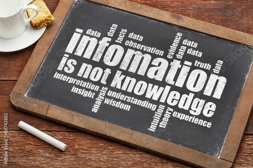 information is not knowledge Canvas Print