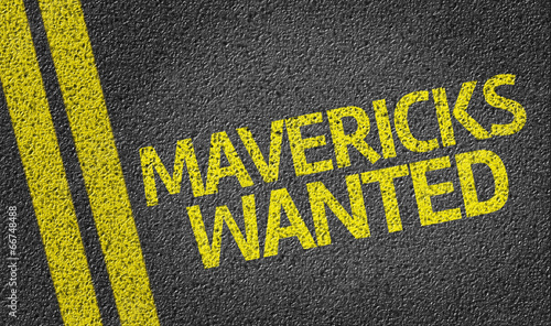 Mavericks Wanted written on the road Canvas Print
