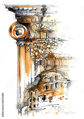 malowany-obraz-architektura