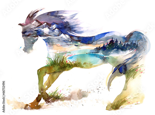 Aluminium Prints Paintings horse
