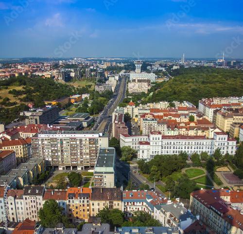 Prague, Czech Republic. View of the city from a survey platform Poster