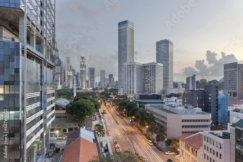 Tuinposter Singapore Singapore Cityscape from Beach Road