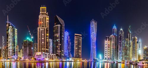 Poster Moyen-Orient Dubai Marina cityscape, UAE