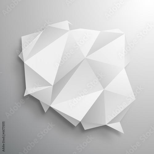 Fotografie, Obraz  polska origami wektor