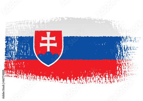 brushstroke flag Slovakia Fototapet