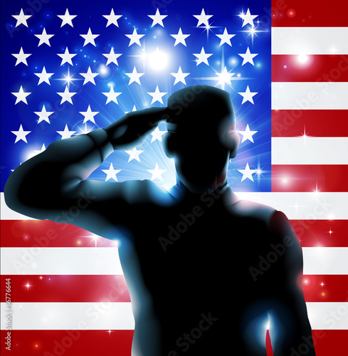 Canvas Prints Military 4th July or Veterans Day Illustration