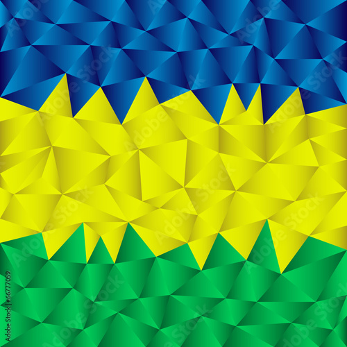 Photo  abstract triangular striped background using brazil flag colors