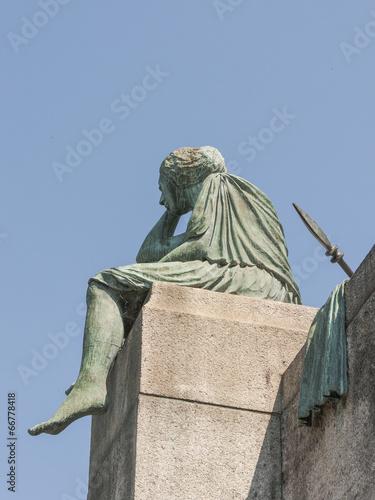 Fotografie, Obraz  Basel, Altstadt, Helvetia, Rheinufer, Sommer, Schweiz