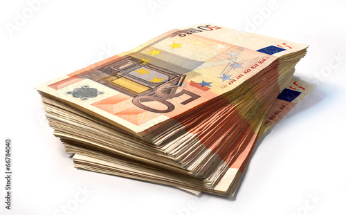 Fotografía  Stack of 50 euro notes
