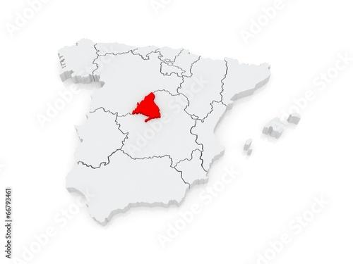 Map of Madrid. Spain. – kaufen Sie diese Illustration und finden Sie ...